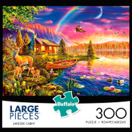Lakeside Cabin 300 Large Piece Jigsaw Puzzle