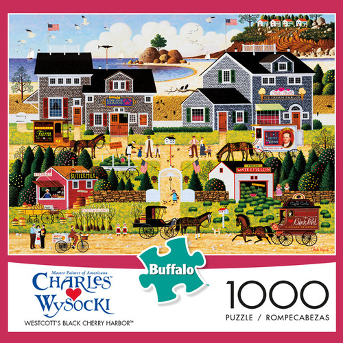 Charles Wysocki Westcott's Black Cherry Harbor 1000 Piece Jigsaw Puzzle Box
