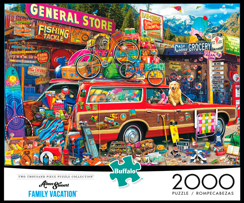 aimee stewart family vacation 2000 piece jigsaw puzzle. Black Bedroom Furniture Sets. Home Design Ideas
