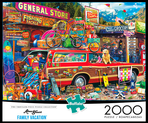 Aimee Stewart Family Vacation 2000 Piece Jigsaw Puzzle