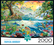 Tropical Harmony 2000 Piece Jigsaw Puzzle Box