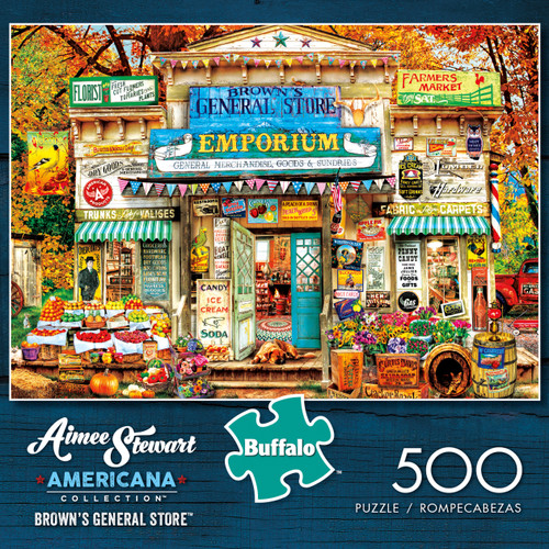Aimee Stewart Americana Collection Brown's General Store 500 Piece Jigsaw Puzzle