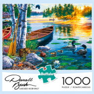 Darrell Bush Lakeside Morning 1000 Piece Jigsaw Puzzle Box