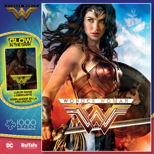 Wonder Woman Glow-in-the-Dark 1000 Piece Jigsaw Puzzle Box