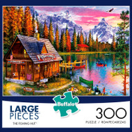 The Fishing Hut 300 Large Piece Jigsaw Puzzle Box