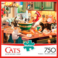 Cats Kitten Kitchen Capers 750 Piece Jigsaw Puzzle Box