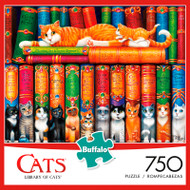 Cats Library of Cats 750 Piece Jigsaw Puzzle Box