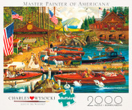 Charles Wysocki Lost in the Woodies 2000 Piece Jigsaw Puzzle Box