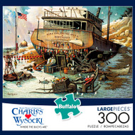 Charles Wysocki Where the Buoys Are 300 Large Piece Jigsaw Puzzle Box