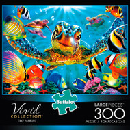 Vivid Tiny Bubbles 300 Large Piece Jigsaw Puzzle Box