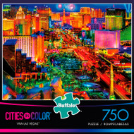 Cities in Color Viva Las Vegas 750 Piece Jigsaw Puzzle Box