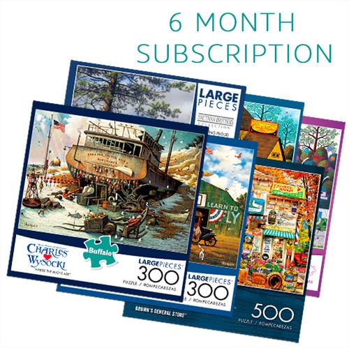 300/500 Piece 6 Month Jigsaw Puzzle Subscription