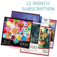 750/1000 Piece 12 Month Jigsaw Puzzle Subscription