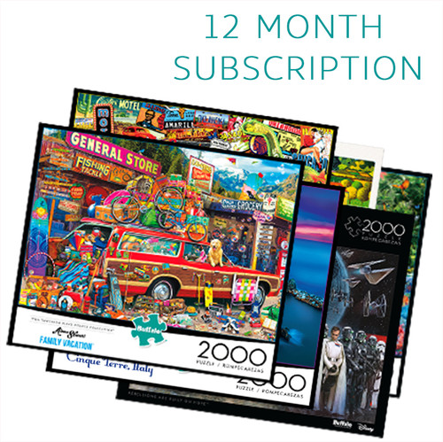 2000 Piece 12 Month Jigsaw Puzzle Subscription