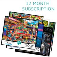 2000 Piece 12 Month Jigsaw Puzzle Subscription