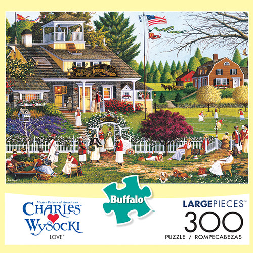 Charles Wysocki Love 300 Large Piece Jigsaw Puzzle Box