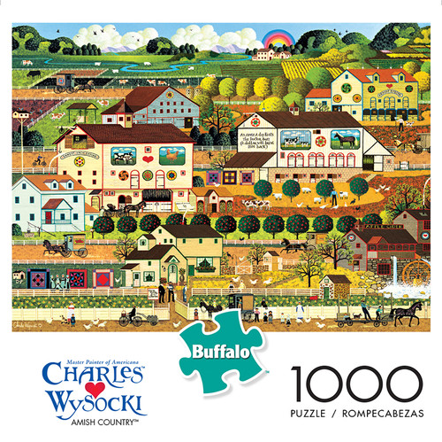 Charles Wysocki Amish Country 1000 Piece Jigsaw Puzzle Box