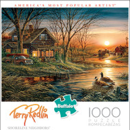 Terry Redlin Shoreline Neighbors 1000 Piece Jigsaw Puzzle Box