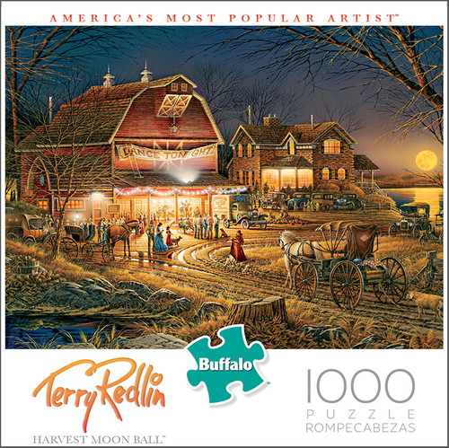 Terry Redlin Harvest Moon Ball 1000 Piece Jigsaw Puzzle Box