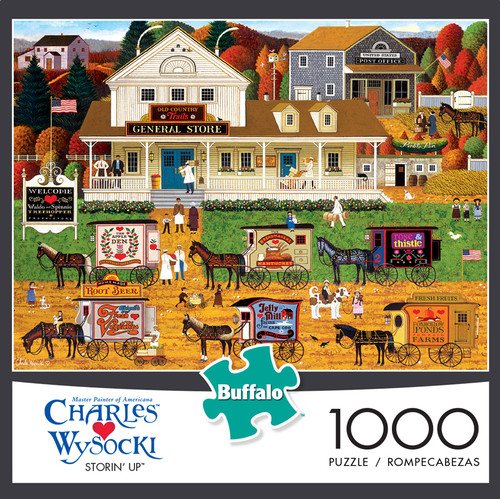Charles Wysocki Storin' Up 1000 Piece Jigsaw Puzzle Box