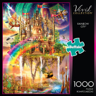 Vivid Rainbow City 1000 Piece Jigsaw Puzzle Box