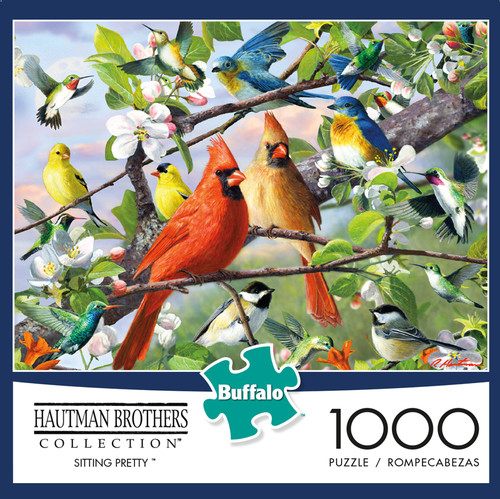 Hautman Brothers Sitting Pretty 1000 Piece Jigsaw Puzzle Box