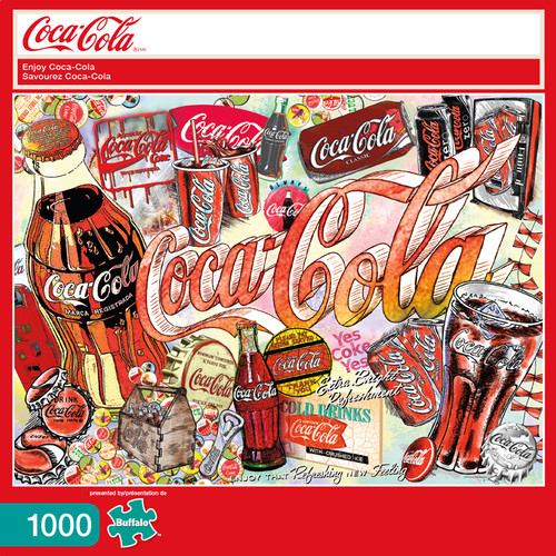 Enjoy Coca-Cola 1000 Piece Jigsaw Puzzle Box