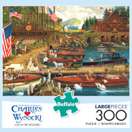 Charles Wysocki Lost in the Woodies 300 Large Piece Jigsaw Puzzle Box