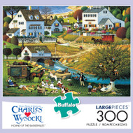 Charles Wysocki Hound of the Baskervilles 300 Large Piece Jigsaw Puzzle Box