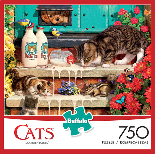 Cats Doorstep Raiders 750 Piece Jigsaw Puzzle Box