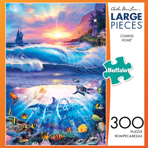 Christian Riese Lassen Coming Home 300 Large Piece Jigsaw Puzzle  Box