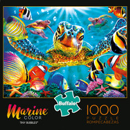 Marine Color Tiny Bubbles 1000 Piece Jigsaw Puzzle Box