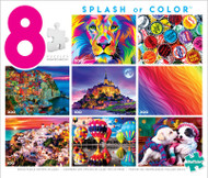 Splash of Color 8-in-1 Jigsaw Puzzle Multi-Pack Box