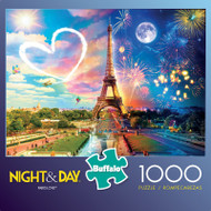Night & Day Paris Love 1000 Piece Jigsaw Puzzle Box