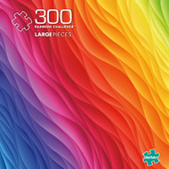 Vivid Rainbow Challenge 300 Piece Jigsaw Puzzle Box