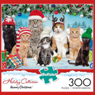 Adorable Animals Meowy Christmas 300 Large Piece Jigsaw Puzzle Box