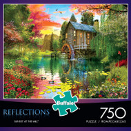 Reflections Sunset at the Mill 750 Piece Jigsaw Puzzle Box