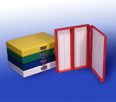 100-Place Slide Storage Box, red, each