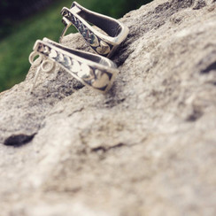 sterling silver western stirrup with posts