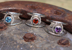 Sterling silver horse shoe rings