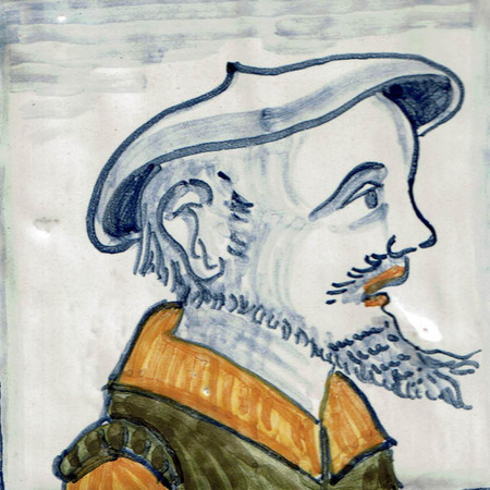 Man with Goatee - Square - San Donato Tile