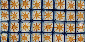 Checkered Suns - Rectangle - San Donato Tile