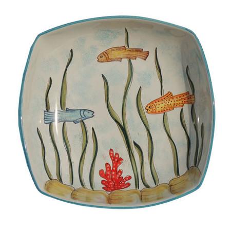 Fish Square Bowl - Marina