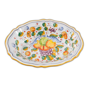 Fluted Oval Bowl - Miele