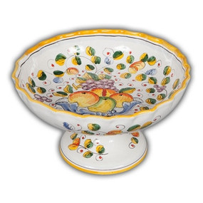 Fluted Footed Fruit Bowl - Miele
