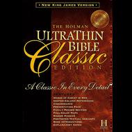 NKJV Holman Ultrathin Bible Classic Edition (Black Bonded Leather)
