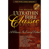 NKJV Holman Ultrathin Bible Classic Edition (Burgundy Bonded Leather)