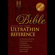 NKJV Holman UltraThin Reference Bible (Burgundy Bonded Leather)