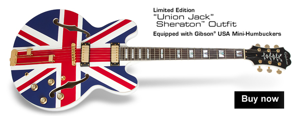 "Limited Edition ""Union Jack"" Sheraton Outfit with Gibson USA Mini-Humbuckers"