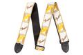 "Fender® 2"" Monogrammed Straps ( White / Brown / Yellow )"